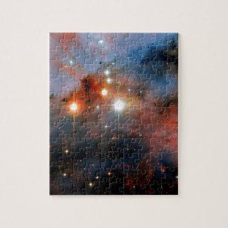Stars WR 25 & Tr16-244 in Carina Nebula Jigsaw Puzzle