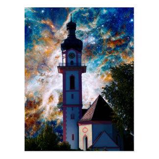 Starscape - Nebula and Tower Postcard