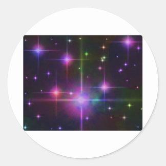Starscape Etiquetas Redondas