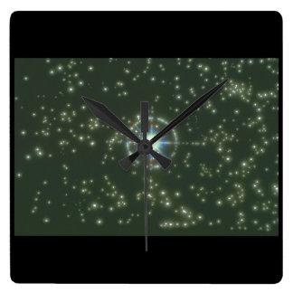 Starscape. (starscape;space;stars_Space Scenes Square Wall Clock