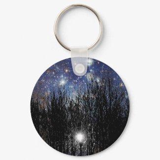 Starscape & Trees - Keychain keychain