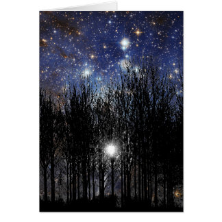 Starscape & Trees - Note Card