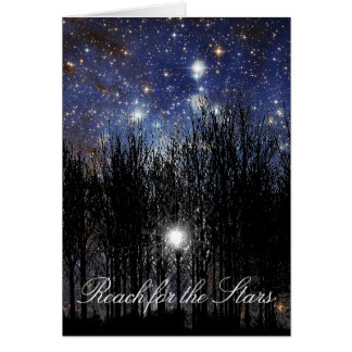 Starscape & Trees: Reach - Greeting Card