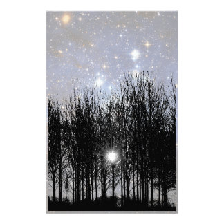 Starscape & Trees - Stationery