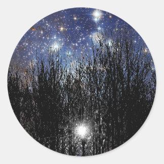 Starscape & Trees - Sticker