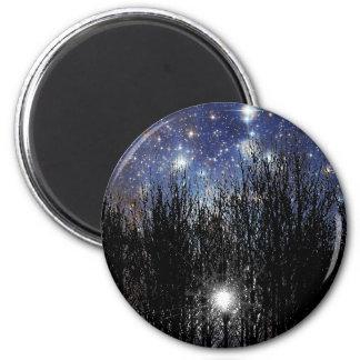 Starscape y árboles - imán #2