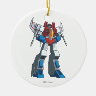 Starscream 1 Double-Sided ceramic round christmas ornament