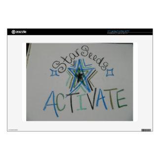 "Starseeds Activate Light Language symbol 15"" Laptop Decals"