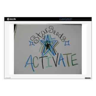 "Starseeds Activate Light Language symbol 17"" Laptop Skins"