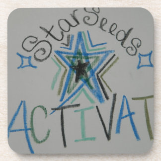Starseeds Activate Light Language symbol Coasters
