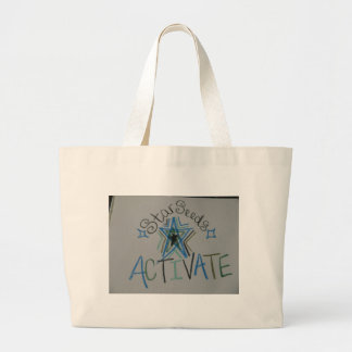 Starseeds Activate Light Language symbol Large Tote Bag