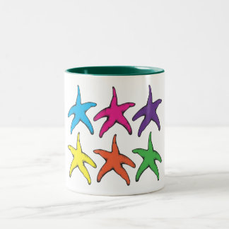 Starsfishes Taza De Dos Tonos