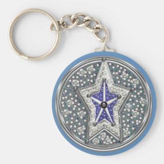 starshine basic round button keychain