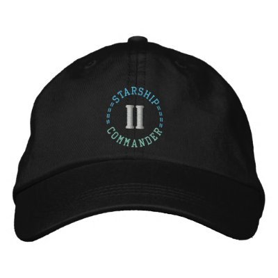 STARSHIP COMMANDER cap Embroidered Hats