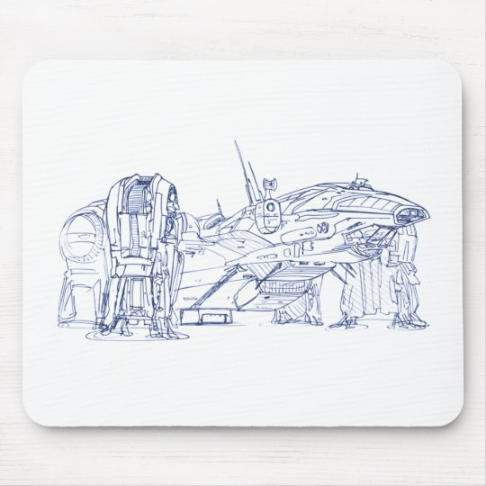 Starship Prometheu Mouse Pad