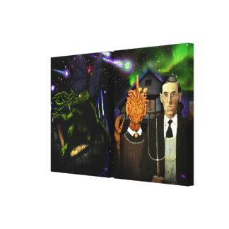 Starship R'lyeh y Lovecraftian gótico Impresión En Lona Estirada