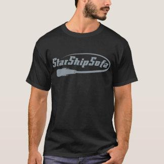 StarShipSofa Logo on Black T-Shirt