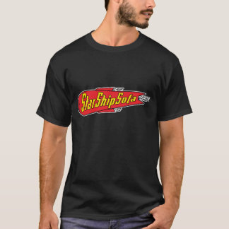 StarShipSofa Red/Yellow on Black T-Shirt