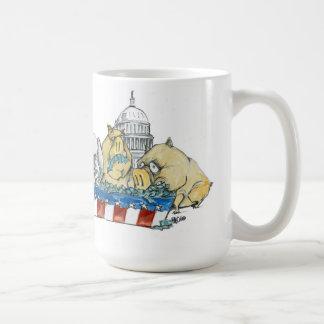 starspangled pigout classic white coffee mug