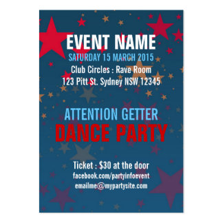 Starstruck Mega Stars Event Party Mini Flyers Large Business Cards (Pack Of 100)