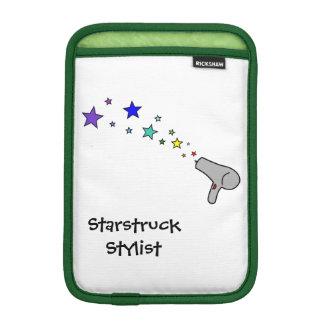 Starstruck Stylist - Rainbow Stars & Hair Dryer iPad Mini Sleeves