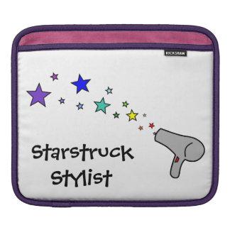 Starstruck Stylist - Rainbow Stars & Hair Dryer iPad Sleeve