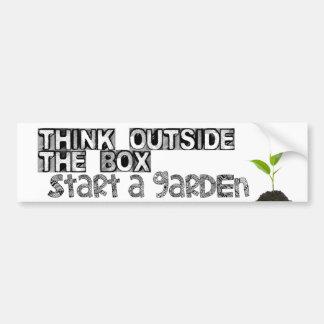 Start a Garden! Car Bumper Sticker
