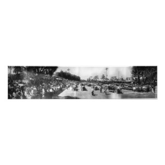 Start and Finish Line of 1913 Corona Road Race Photo Print