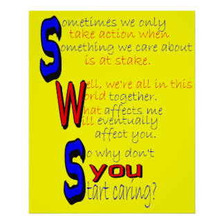 Start Caring Poster