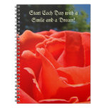 Start Each Day with a Smile and a Dream notebook