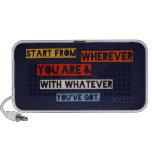 Start from wherever you are notebook speakers