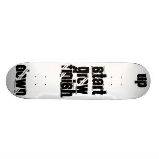 START - GROW - FINISH Skateboard