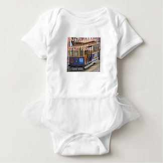 Start Here! San Francisco Cable Cars Trolley Cars Baby Bodysuit