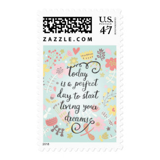 Start Living Your Dreams Postage