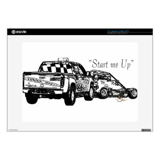 Start me up sketch black laptop decals