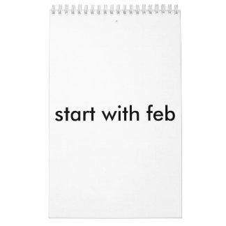 start on feb calendar