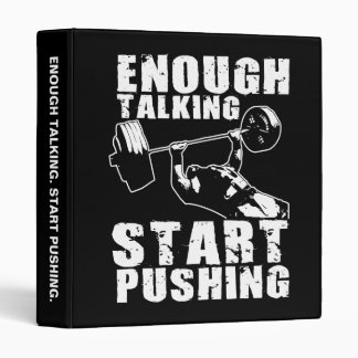 Start Pushing - Bench Press - Workout Motivational Binder