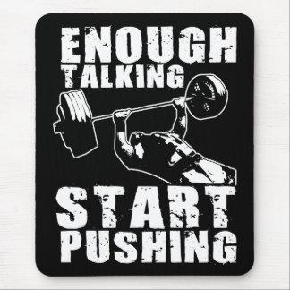 Start Pushing - Bench Press - Workout Motivational Mouse Pad