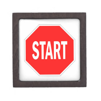 start road traffic sign symbol stop jewelry box