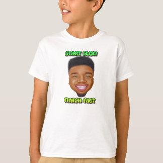 Start Slow Finish Fast - Big Head Boys T-Shirt