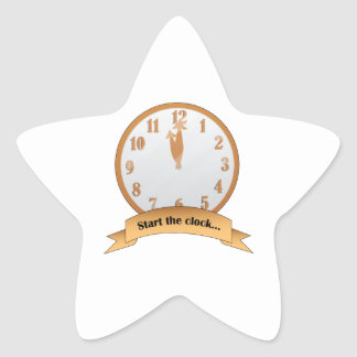 Start The Clock Star Sticker