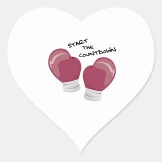 Start the Countdown Heart Sticker