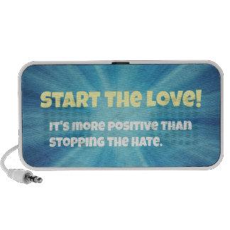 Start the Love Blue explosion Travelling Speaker