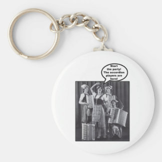 Start the Party! The Accordion Players Are Here Keychain
