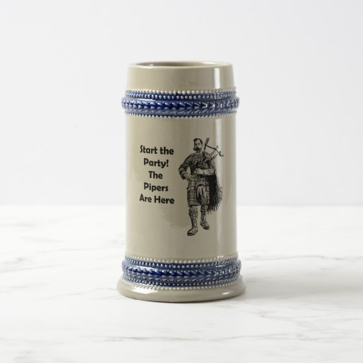 Start the Party! The Pipers Are Here Coffee Mugs