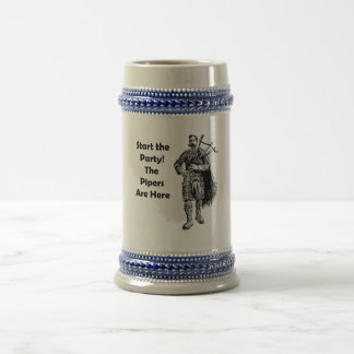 Start the Party! The Pipers Are Here 18 Oz Beer Stein