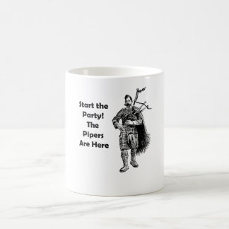 Start the Party! The Pipers Are Here Classic White Coffee Mug