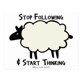 Start Thinking Postcard