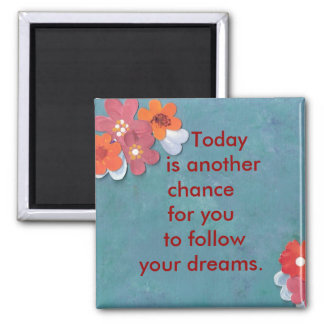 Start Today 2 Inch Square Magnet