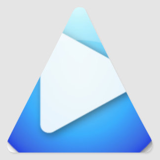 start triangle sticker